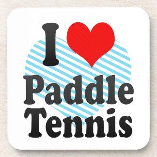 Amo tenis de la paleta posavaso