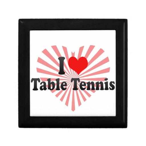 Amo tenis de mesa cajas de regalo