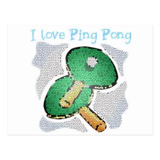 Amo tenis de mesa del poder del ping-pong tarjetas postales