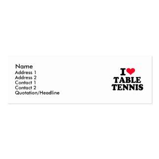 Amo tenis de mesa tarjetas de visita mini