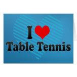 Amo tenis de mesa tarjeton