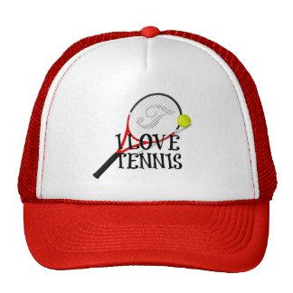 Amo tenis - estafa y bola gorros bordados