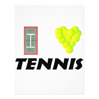 """Amo tenis folleto 8.5"""" x 11"""""""