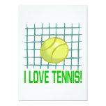Amo tenis invitacion personalizada