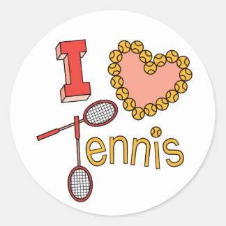 Amo tenis pegatina