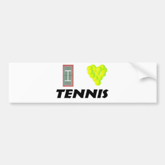 Amo tenis pegatina para auto