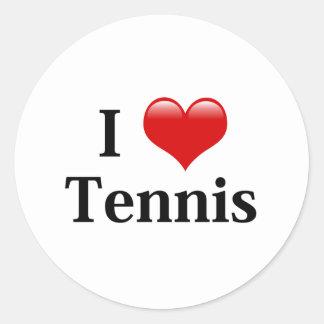 Amo tenis pegatina redonda