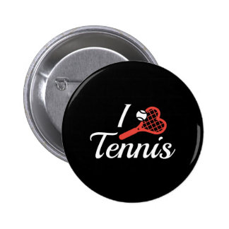 Amo tenis pin redondo de 2 pulgadas