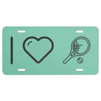 Amo tenis placa de matrícula