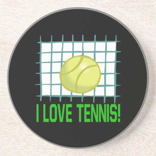 Amo tenis posavasos personalizados