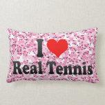 Amo tenis real almohada