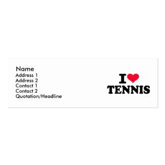 Amo tenis tarjetas de visita mini