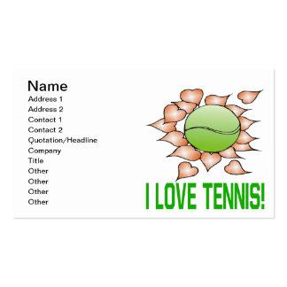 Amo tenis tarjetas de visita
