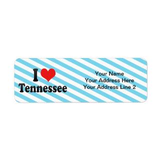 Amo Tennessee Etiqueta De Remitente