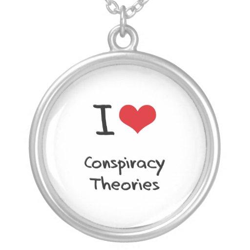 Amo teorías de conspiración colgante redondo