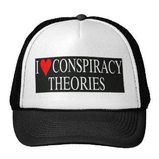 Amo teorías de conspiración gorro de camionero
