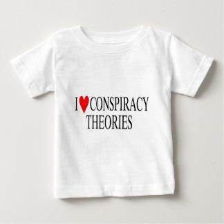 Amo teorías de conspiración playera de bebé