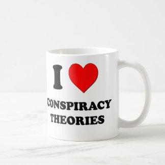 Amo teorías de conspiración taza de café