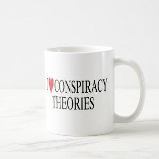 Amo teorías de conspiración taza