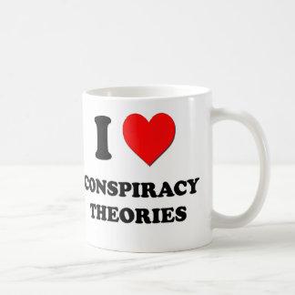 Amo teorías de conspiración taza clásica