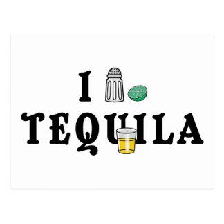Amo Tequila Tarjetas Postales