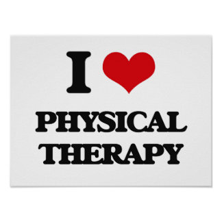 Amo terapia física póster