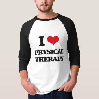 Amo terapia física remeras