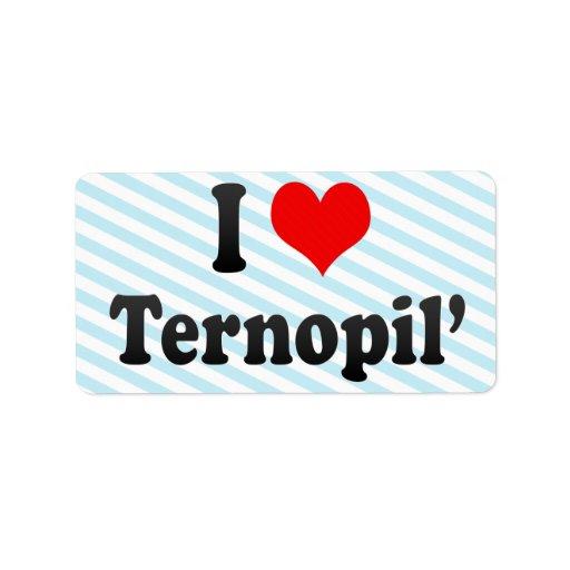 Amo Ternopil', Ucrania Etiqueta De Dirección