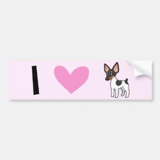 Amo terrieres de rata/a fox terrier de juguete pegatina para auto