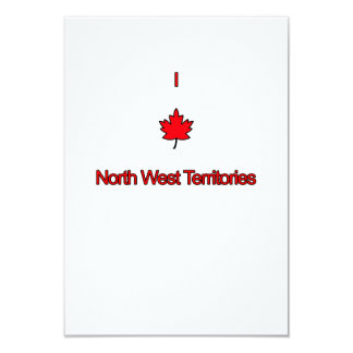 """Amo territorios del noroeste invitación 3.5"""" x 5"""""""