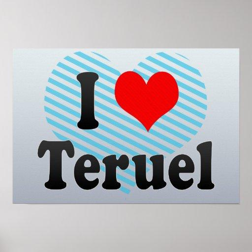 Amo Teruel, España Poster