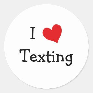 Amo Texting Etiqueta Redonda