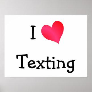 Amo Texting Póster