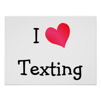 Amo Texting Posters