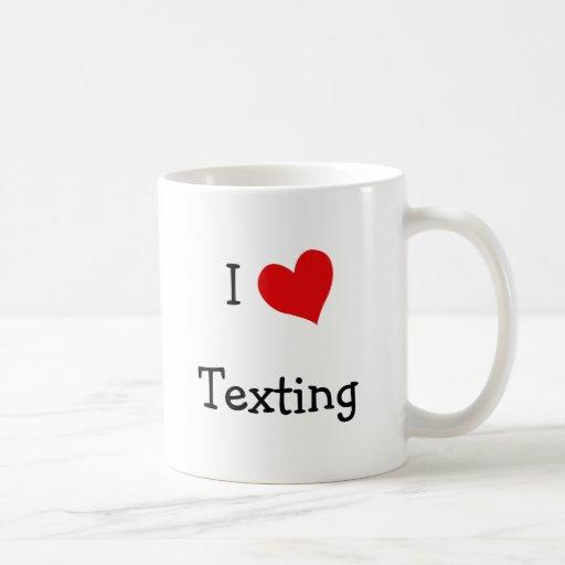 Amo Texting Taza Básica Blanca