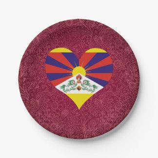 Amo Tíbet Plato De Papel De 7 Pulgadas