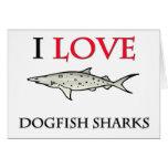 Amo tiburones de las lijas tarjetón