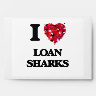 Amo tiburones de préstamo sobres