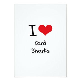 """Amo tiburones de tarjeta invitación 5"""" x 7"""""""