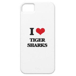 Amo tiburones de tigre iPhone 5 funda