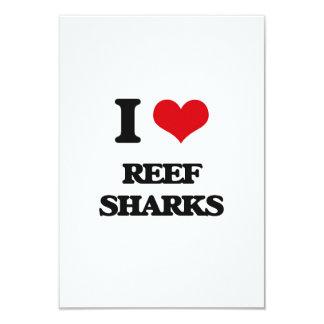 """Amo tiburones del filón invitación 3.5"""" x 5"""""""