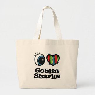 Amo tiburones del Goblin (del corazón) Bolsa Tela Grande