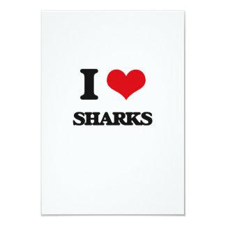 Amo tiburones invitación 8,9 x 12,7 cm