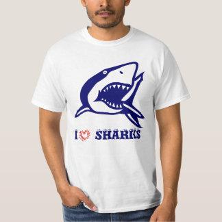 Amo tiburones playera
