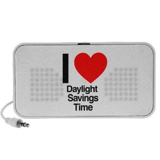 amo tiempo de los ahorros de luz del día notebook altavoces
