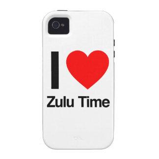 amo tiempo del Zulú Vibe iPhone 4 Fundas