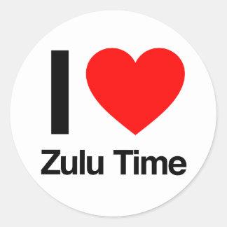 amo tiempo del Zulú Pegatina Redonda