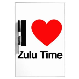 amo tiempo del Zulú Tablero Blanco