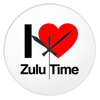 amo tiempo del Zulú Reloj Redondo Grande