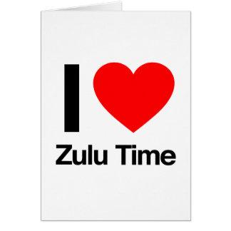 amo tiempo del Zulú Tarjeta De Felicitación